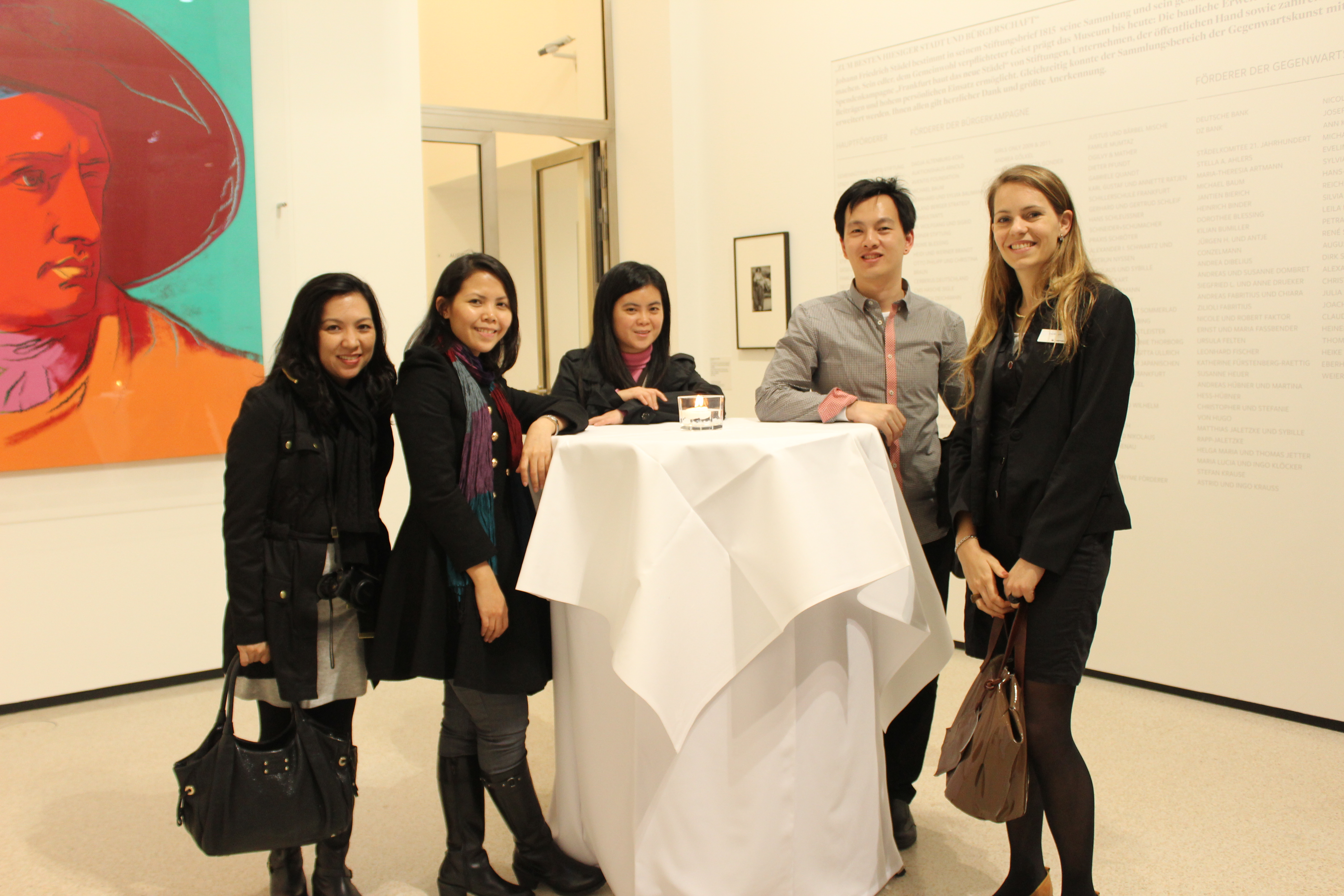 Coaching by Claudia - business coach for designers and creatives, photo: With Asian Lighting Designers in Frankfurt, 2012